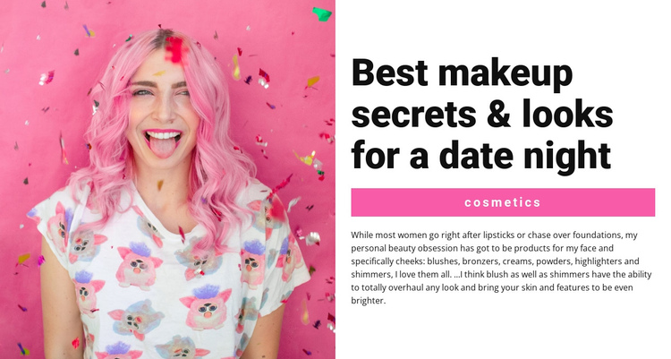 Party Makeup Website Builder Software