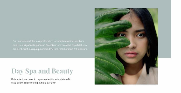 Spa and beauty salon Website Template