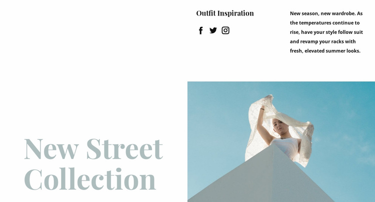 New street collection Website Template