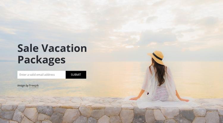 Travel agency subscribe WordPress Website Builder