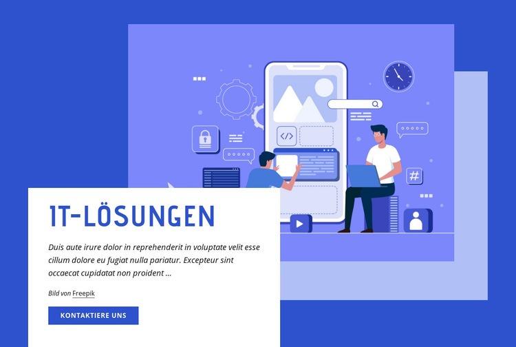 IT-Lösungen Website-Vorlage