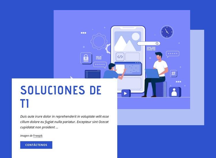 Soluciones de TI Plantilla de sitio web
