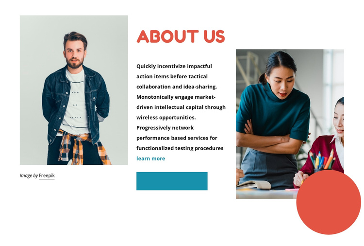 We are creators and dreamers One Page Template