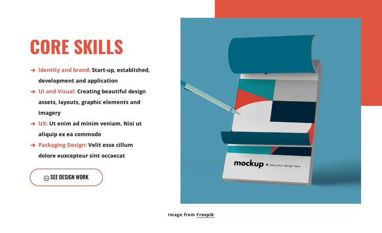 The importance of a design mindset One Page Template
