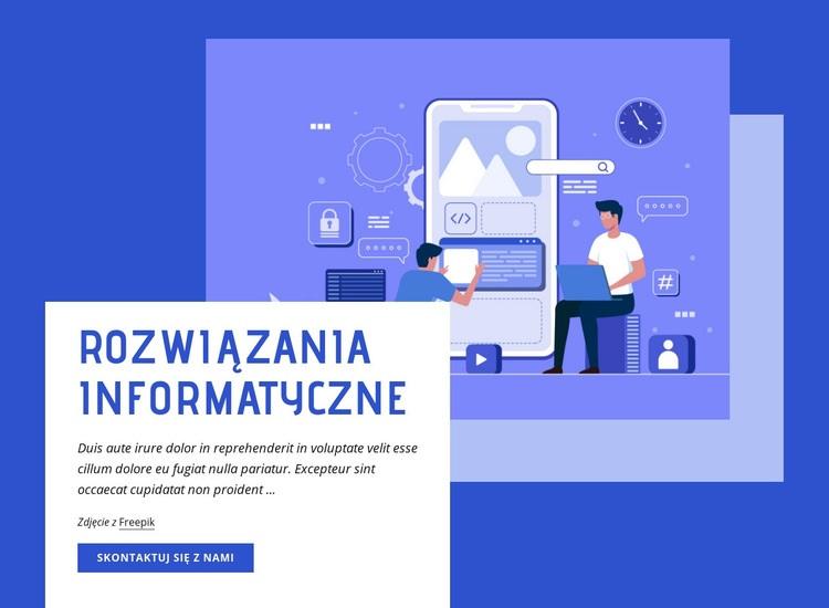 Rozwiązania informatyczne Szablon witryny sieci Web