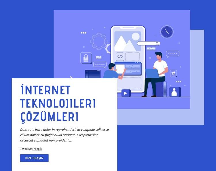 İnternet Teknolojileri çözümleri Web Sitesi Şablonu