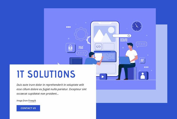 IT solutions Website Mockup