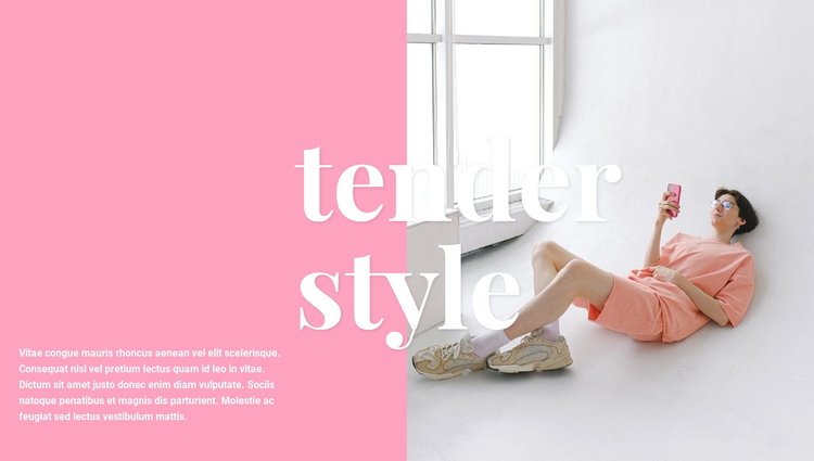 Delicate style of clothing Website Builder Software