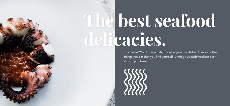 Sea food delicacies WordPress Website Builder