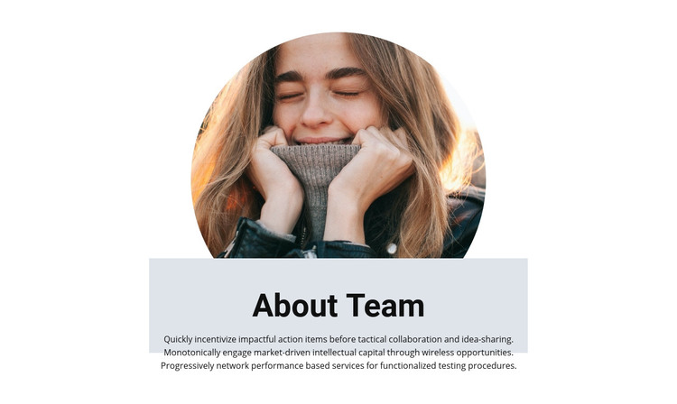 Team in creative studio Homepage Design