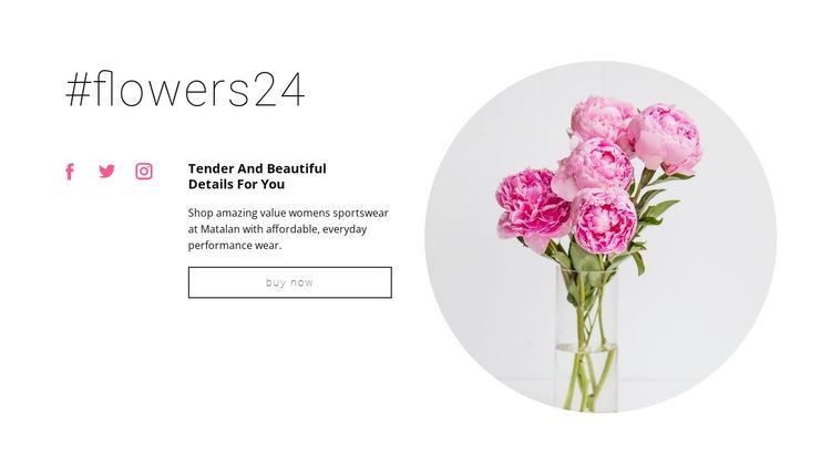 Flowers beauty shop HTML5 Template