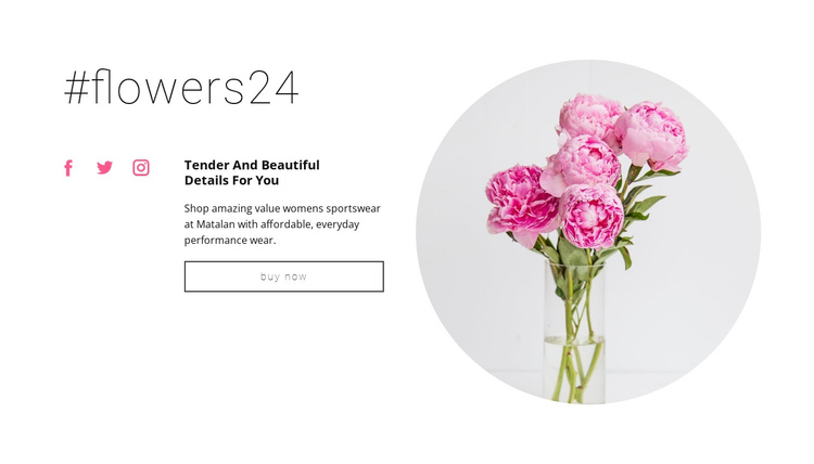 Flowers beauty shop One Page Template