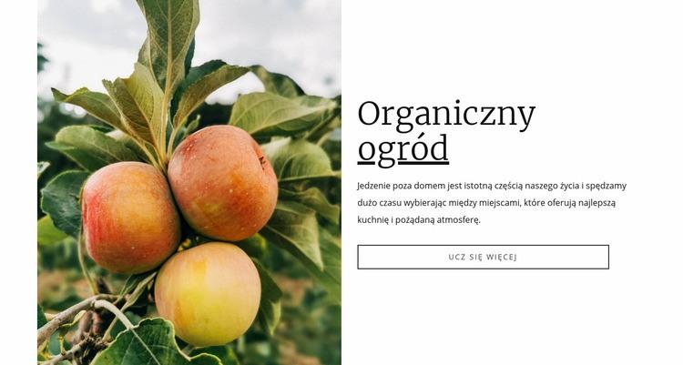 Organiczna żywność ogrodowa Szablon Joomla