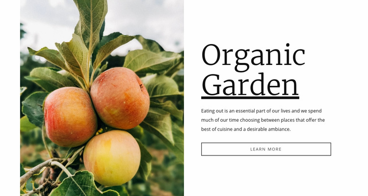 Organic garden food Web Page Design