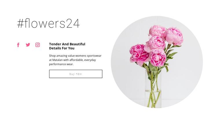 Flowers beauty shop Website Builder Software