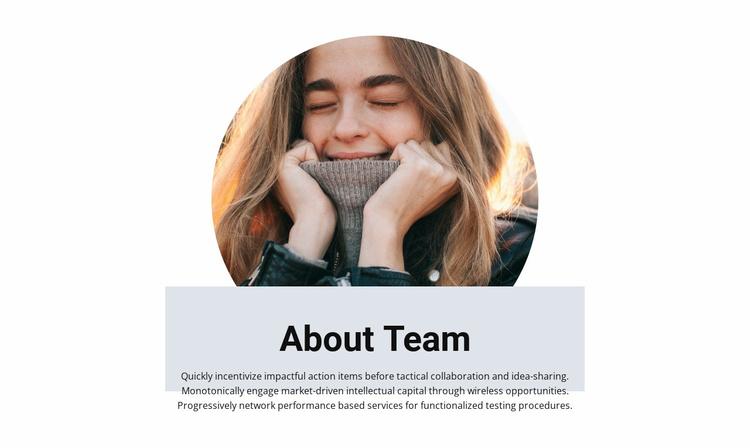 Team in creative studio Landing Page