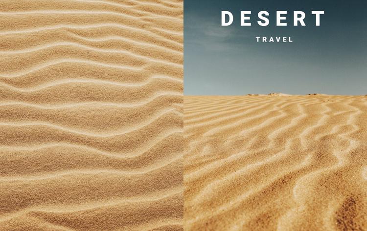 Desert nature travel Website Template