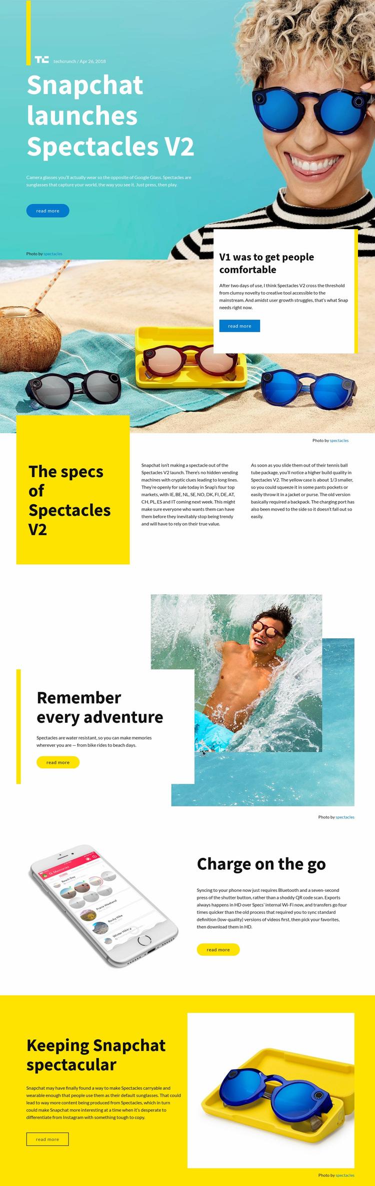 Snapchat Launchers Website Design