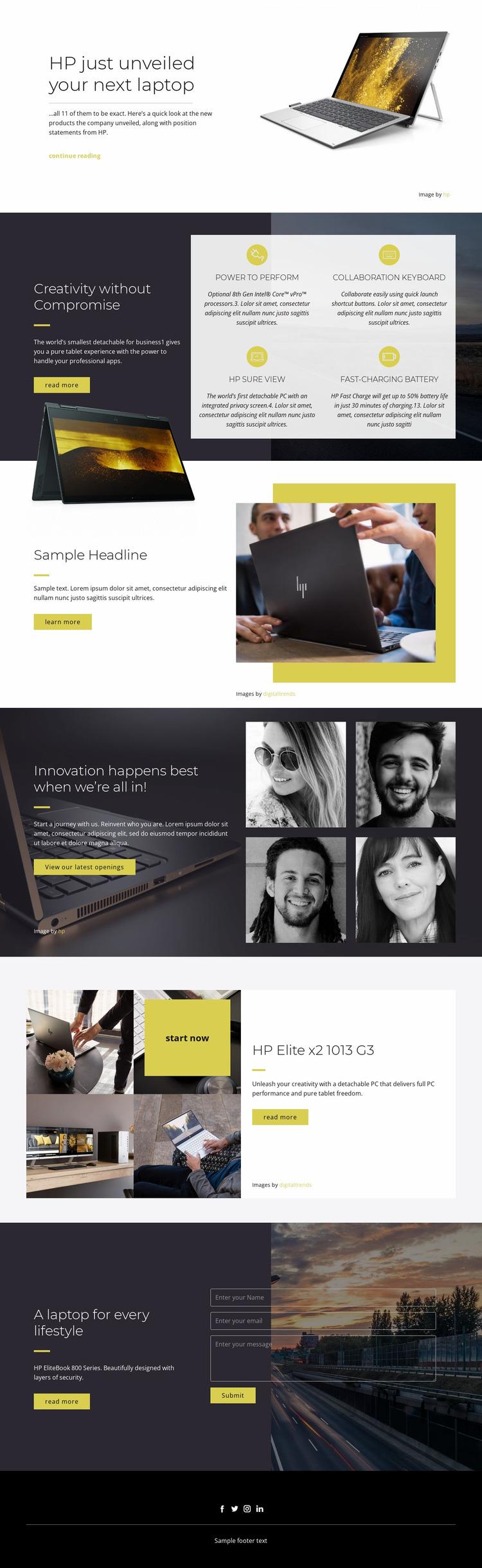 Best computer technology Website Mockup