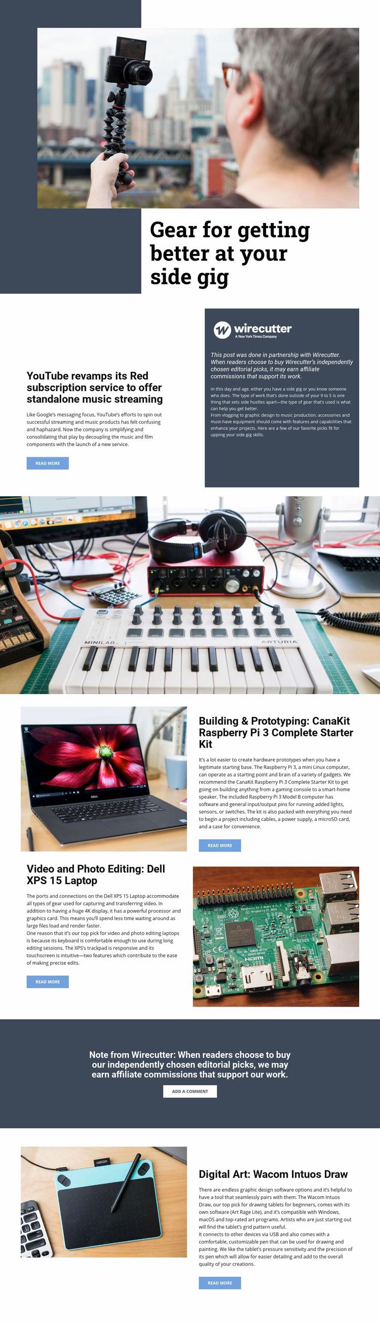 Video Technology Web Page Design