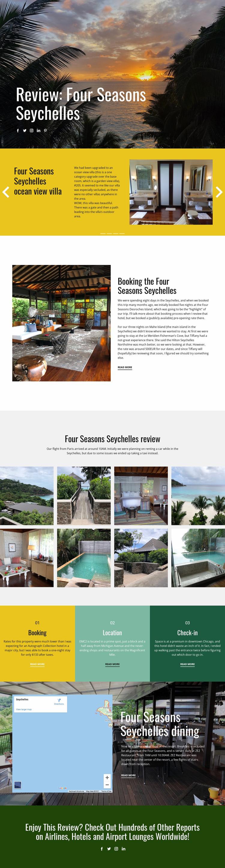 Four Seasons Website Mockup