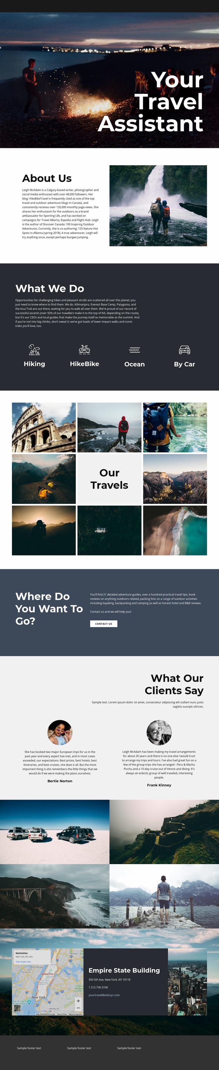 Travel Assistant Web Page Designer
