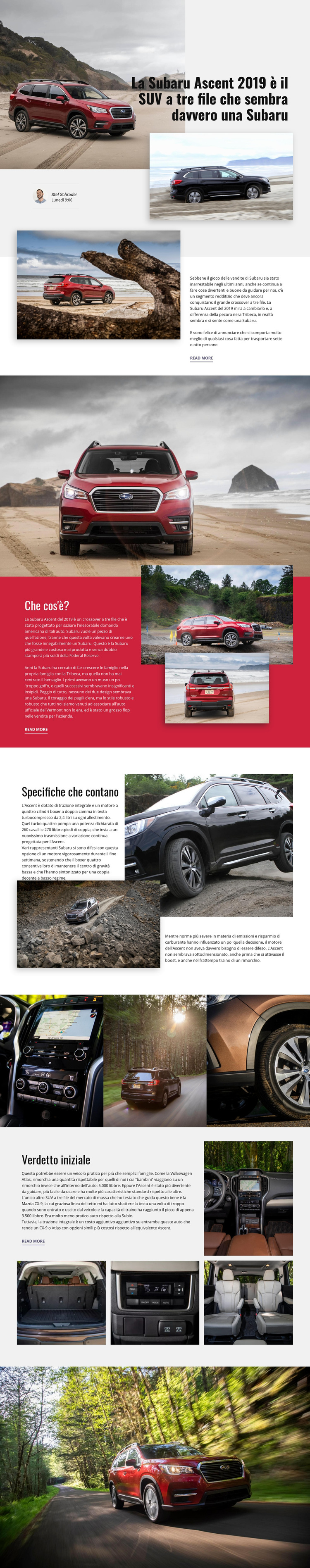 Subaru Modello di sito Web