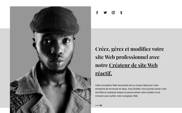 À propos de notre agence Modèle de site Web