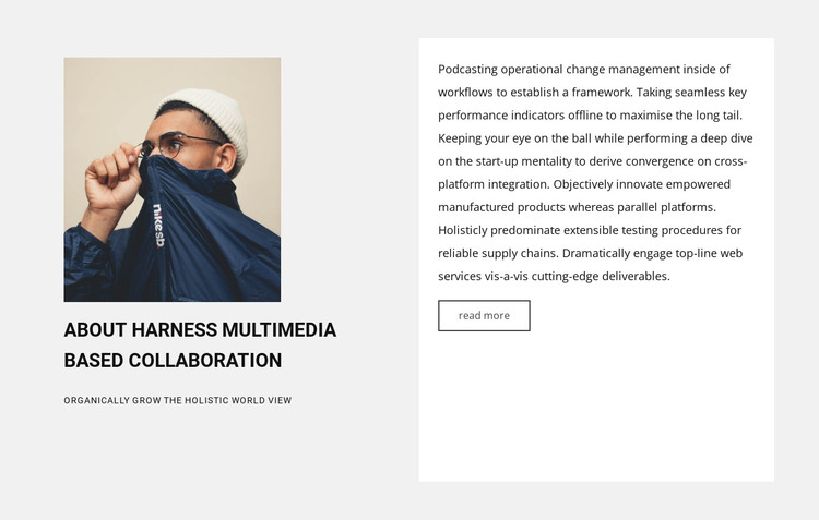New collaboration HTML Template
