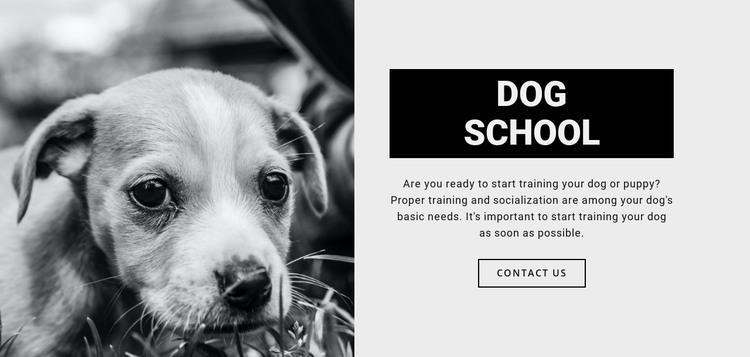 Dog school training HTML Template
