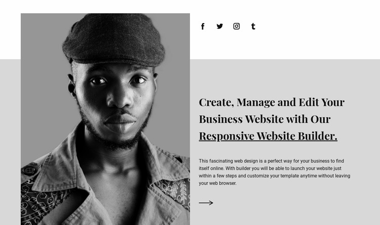 About our agency Html Website Builder