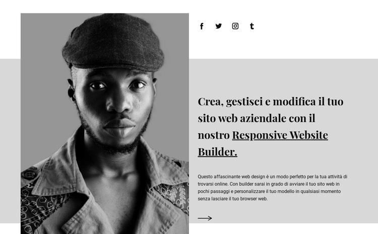 Sulla nostra agenzia Modello di sito Web