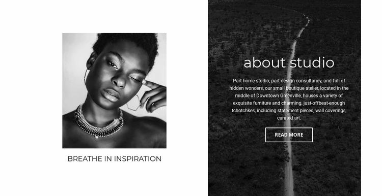 Our creative ideas Website Mockup