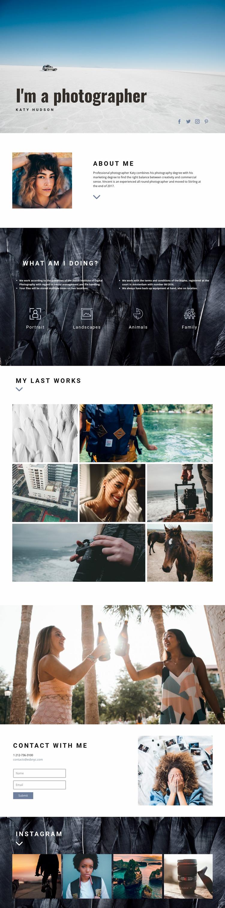 Personal webiste art Website Mockup