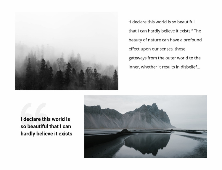 Beautiful nature landscape  Website Template