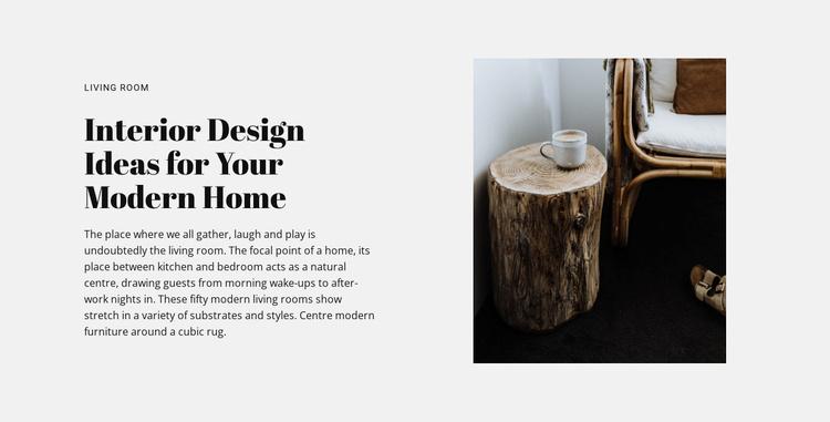 Loft details in interior Website Template