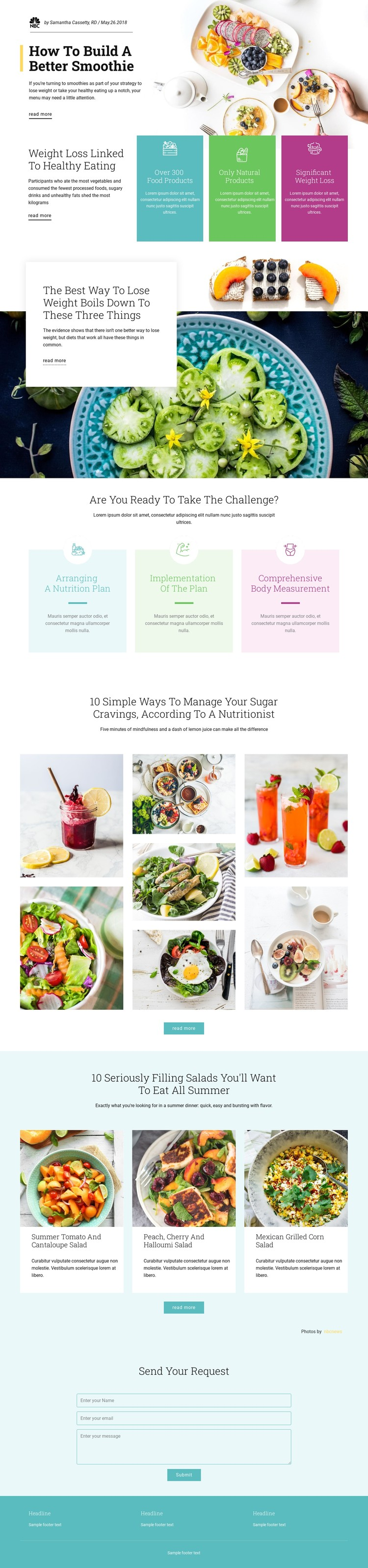 Smoothie Recipes CSS Template