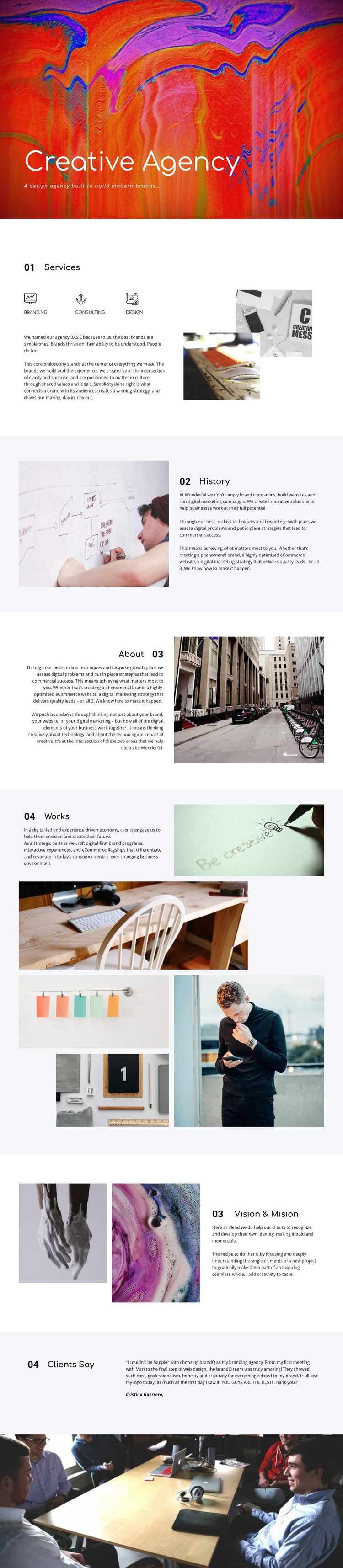 Creative gallery Web Design