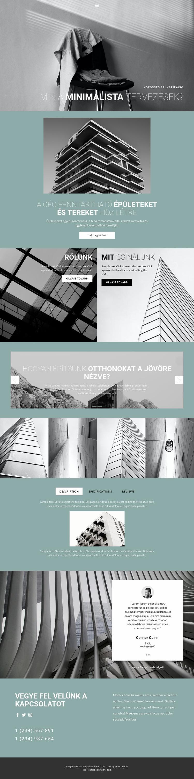 Tökéletes építészeti ötletek Weboldal sablon