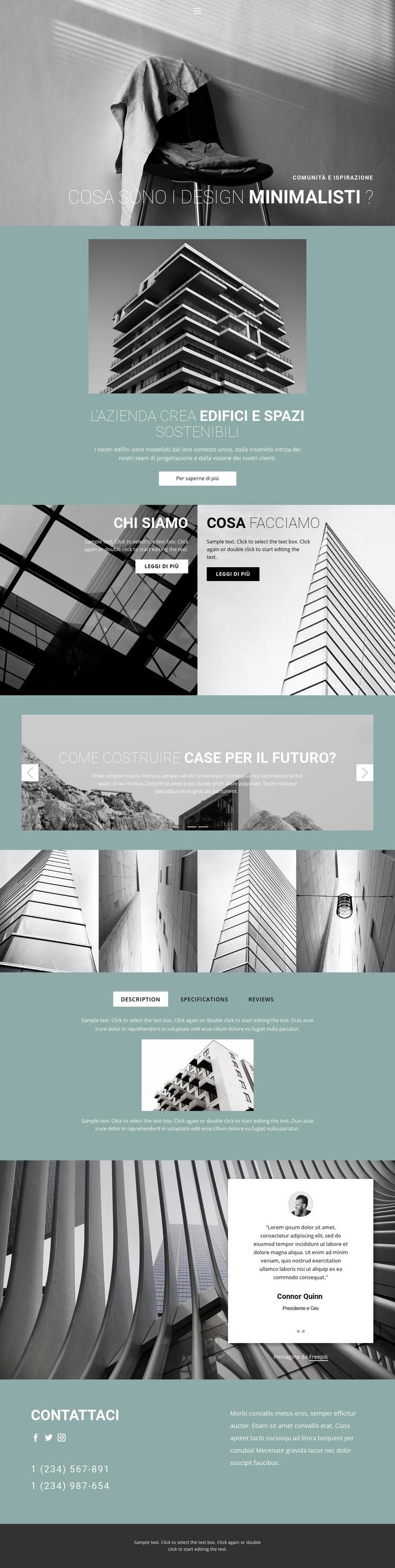 Idee di architettura perfette Modello di sito Web