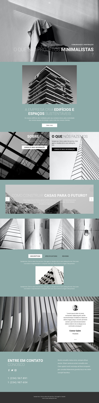 Idéias perfeitas de arquitetura Modelo de site