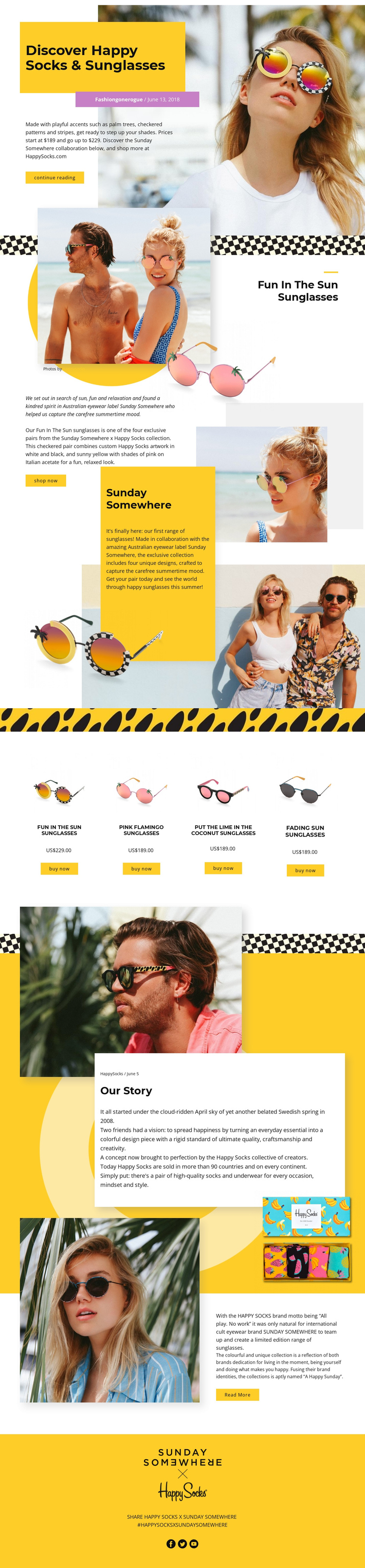 Sunglasses Website Builder Software