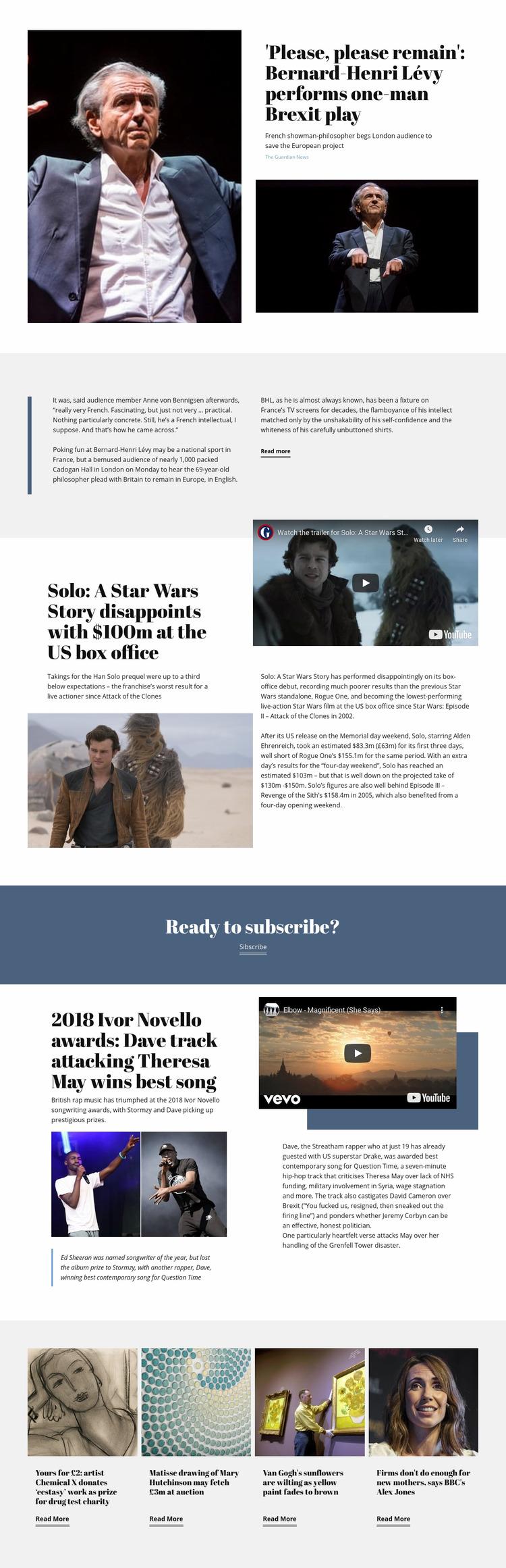 Music News Website Maker