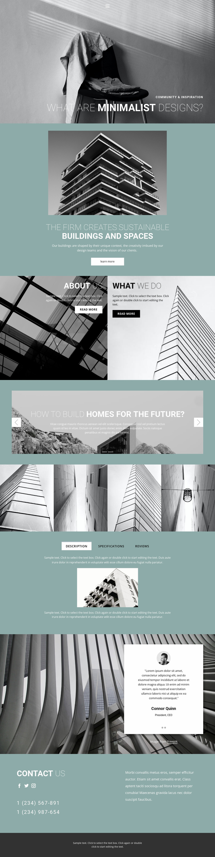 Perfect architecture ideas Website Template