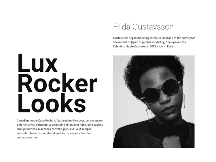 Lux rocker looks One Page Template