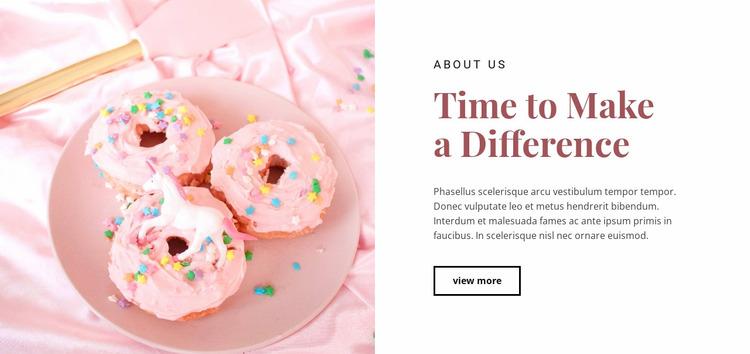 Sweet food recipes Website Mockup