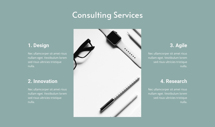 Law consulting services Website Mockup