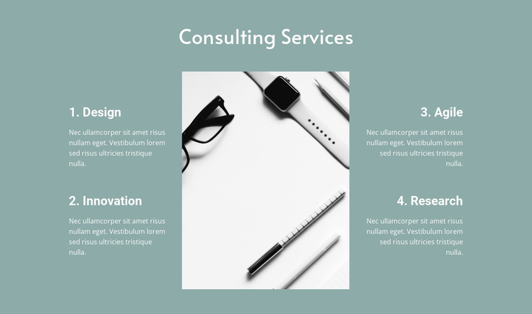 Law consulting services Website Template