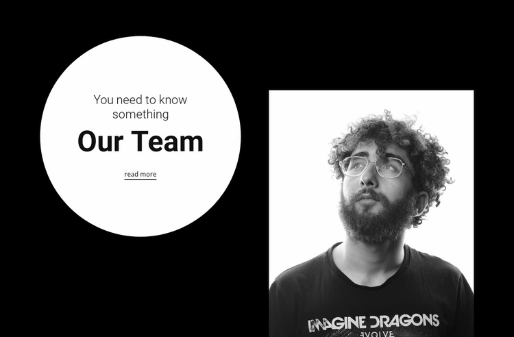 Leader of our large team Website Template