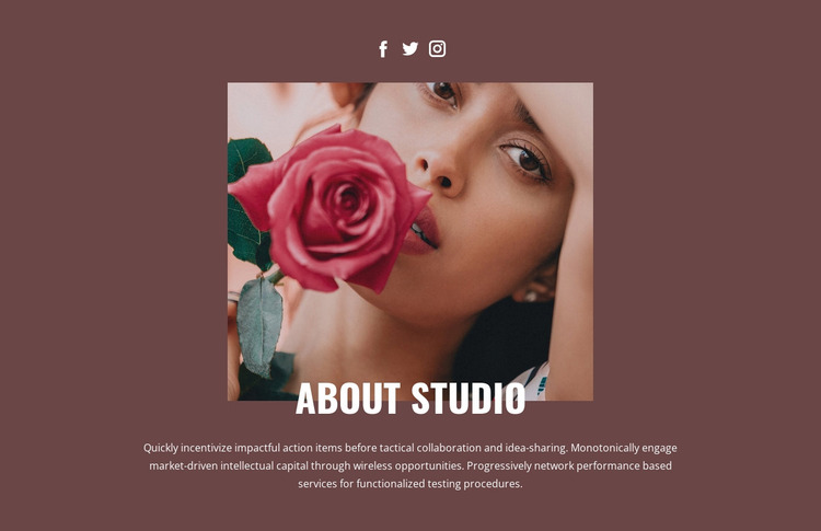 Beauty fashion studio WordPress Website Builder